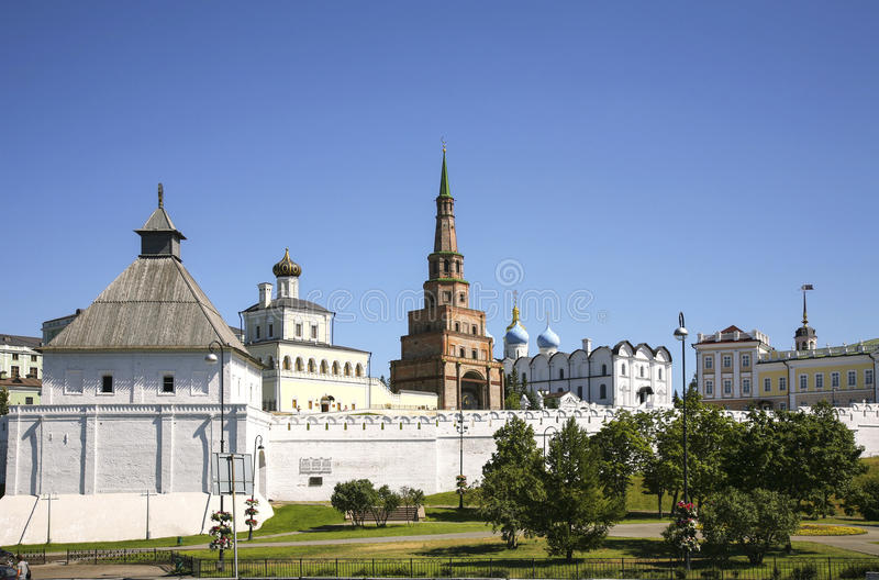 Panorama Kazan Kremlin, Tatarstan zdjęcie royalty free