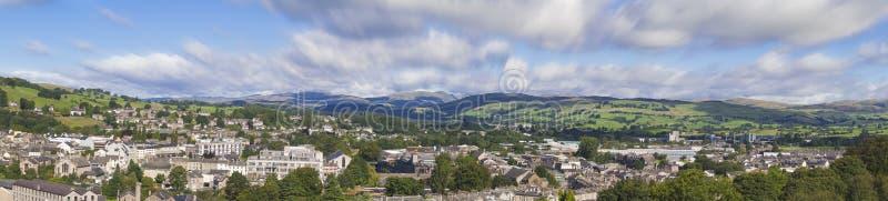 Panorama Kendal, Inghilterra fotografia stock libera da diritti
