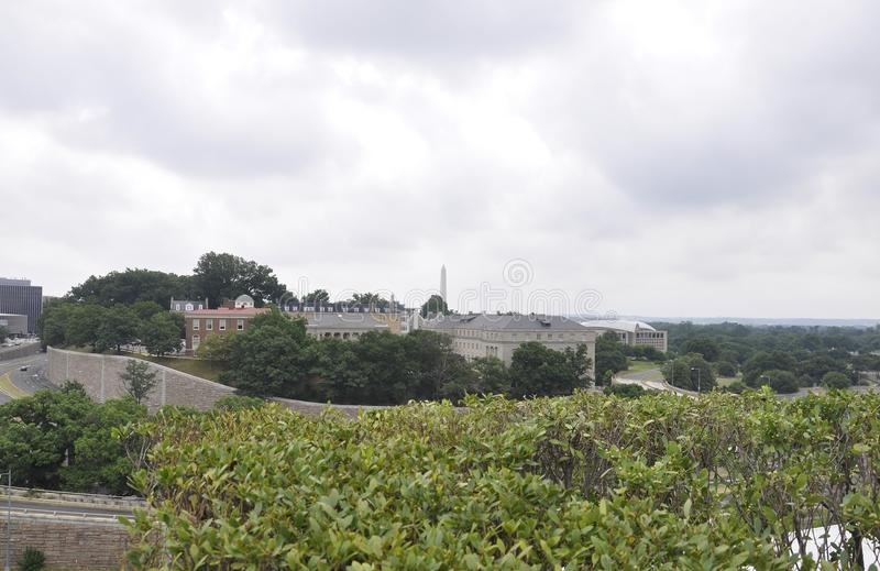 Panorama with Kennedy Center Neighborhood from Washington District of Columbia USA royalty free stock image