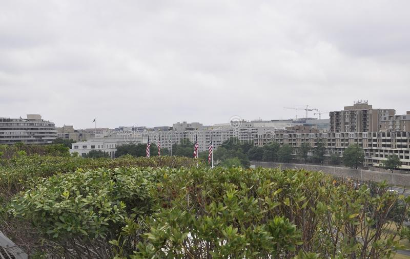Panorama with Kennedy Center Neighborhood from Washington District of Columbia USA stock photography