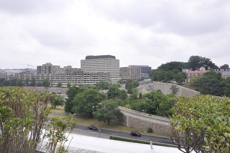 Panorama with Kennedy Center Neighborhood from Washington District of Columbia USA stock image