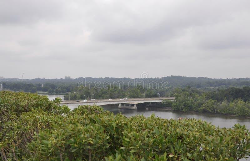 Panorama with Key Bridge from Washington District of Columbia USA stock image