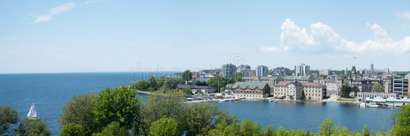 Panorama Kingston, Ontario od fortu Henry zdjęcia royalty free