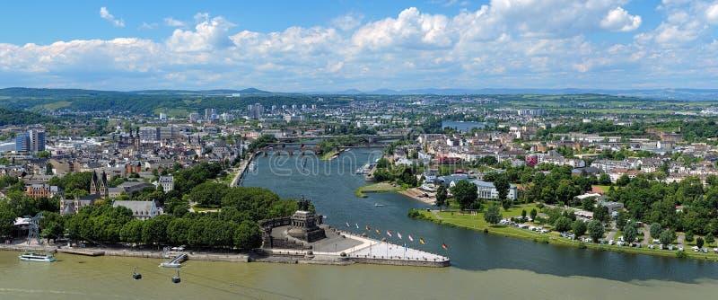 Panorama of Koblenz, Germany stock image