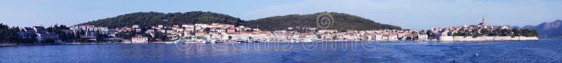 panorama korcula obrazy royalty free