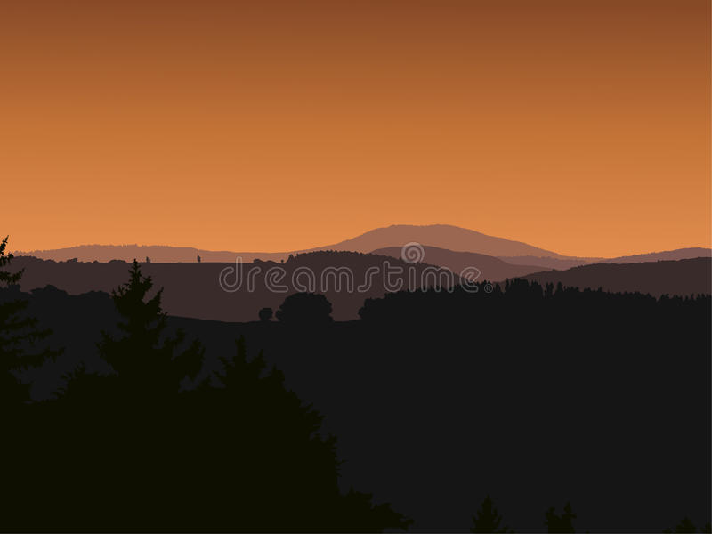 Panorama krajobraz ilustracja wektor
