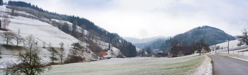 panorama krajobrazowy śnieg zdjęcie stock