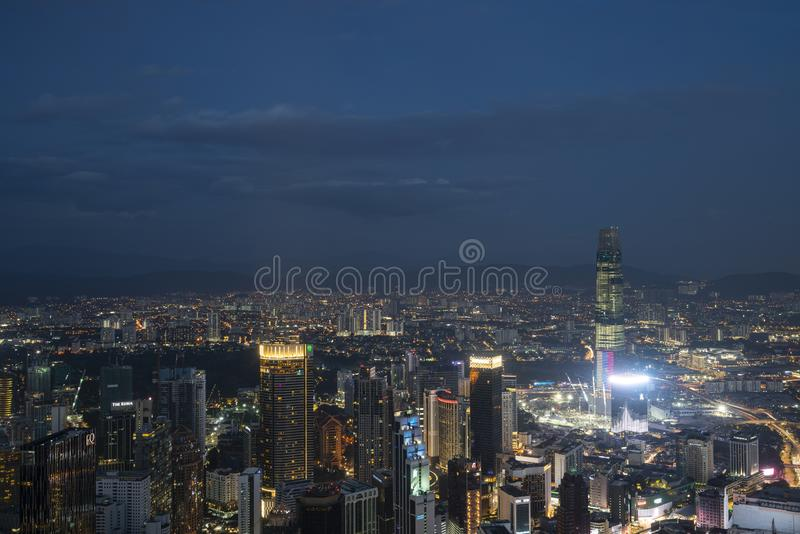 Panorama Kuala Lumpur fotografia stock