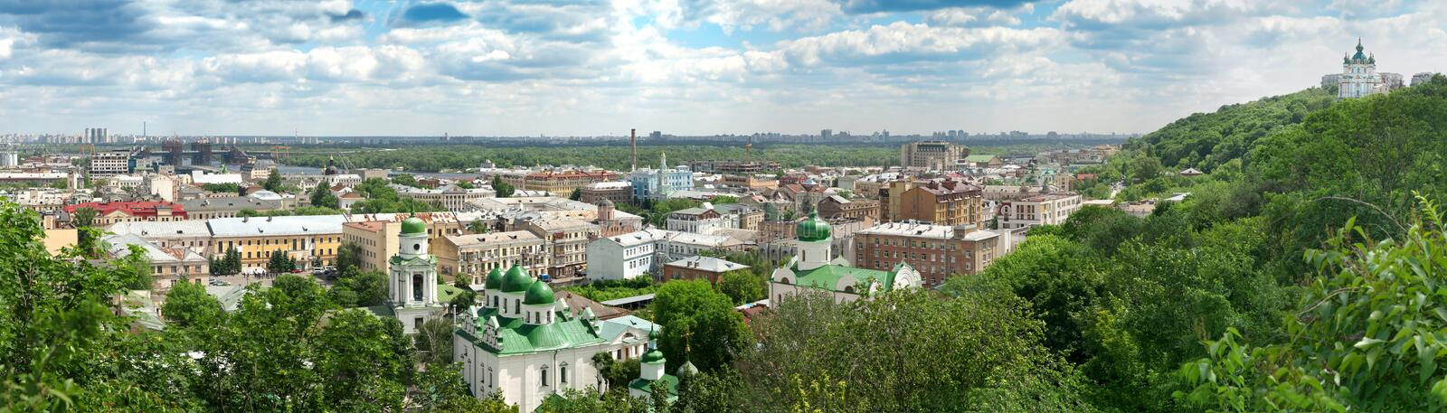 Download Panorama of the Kyiv stock image. Image of cityscape - 14917547