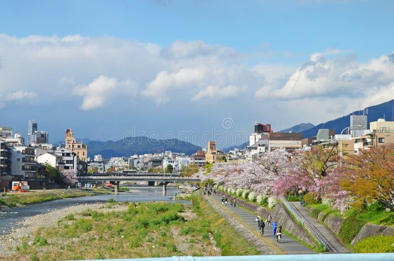Panorama of Kyoto stock image