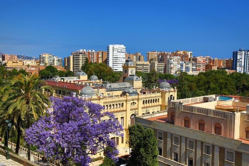 Panorama, La Alcazaba, Histiric-Gebäude, Màlaga, Spanien lizenzfreie stockfotografie