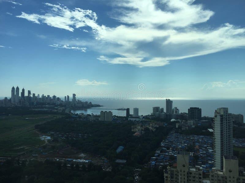 Panorama - la città di Mumbai, abbassa Parel fotografia stock