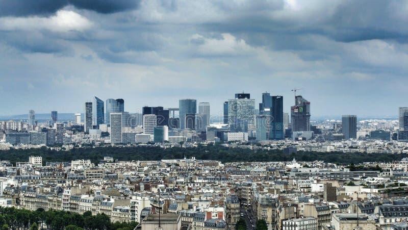 Panorama of La Defense district in Paris royalty free stock photo