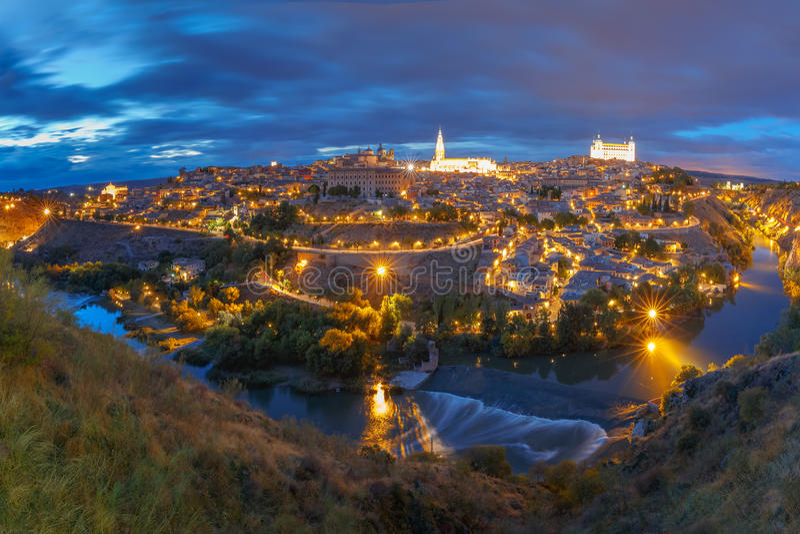 Panorama La Mancha de Toledo, Castilla, Espanha imagens de stock