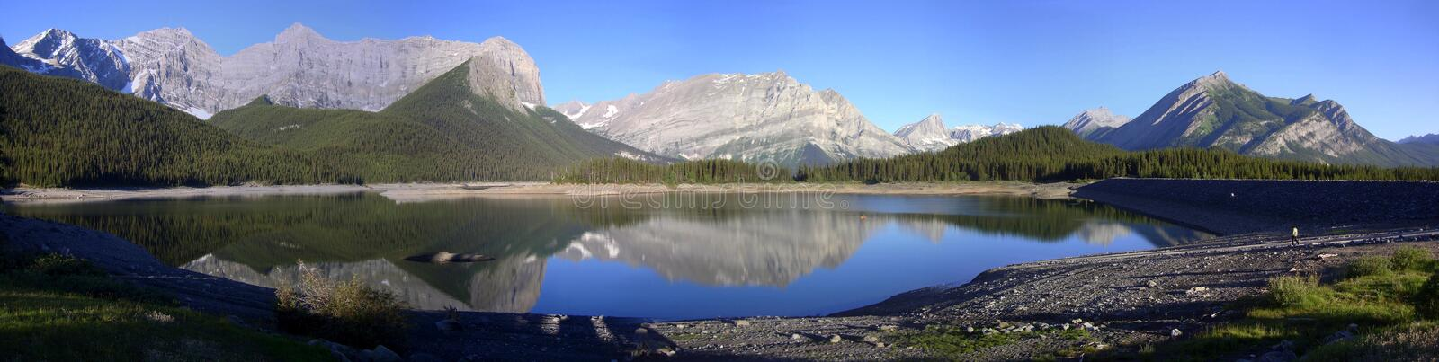 Panorama - lago upper de Kananaskis imagem de stock royalty free