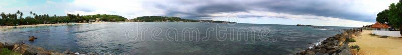 Panorama laguna w Unawatuna, Sri Lanka fotografia stock
