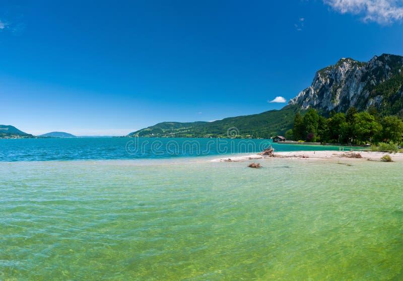 Panorama a lake stock image