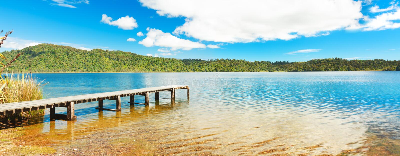 Panorama lake stock photo