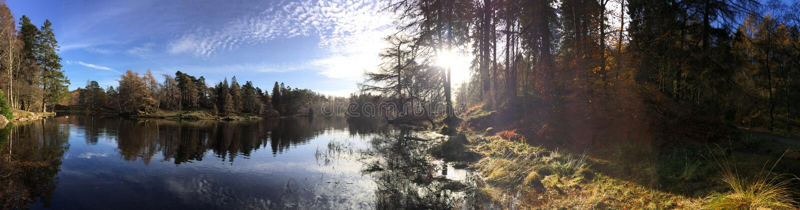 panorama- lake royaltyfri bild