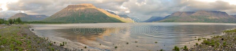 Panorama of the lake Lama stock image
