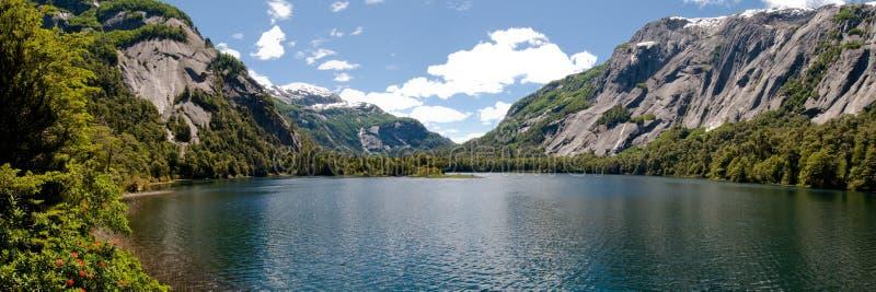 Panorama of Lake Nahuel Huapi, Argentina stock photography