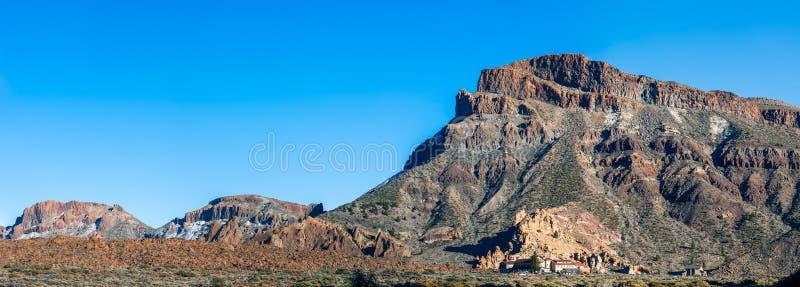 Panorama landscape of mountain Guajara. In Teide National Park, Tenerife island. Nature background royalty free stock image