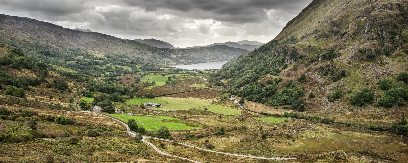 Download Panorama Landscape Snowdonia National Park Stock Image - Image: 38934279