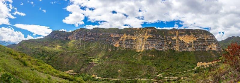Panorama-Landschaft nahe Chachapoyas, Peru stockfoto