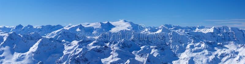 Panorama largo extra de Grossglockner da montanha foto de stock royalty free