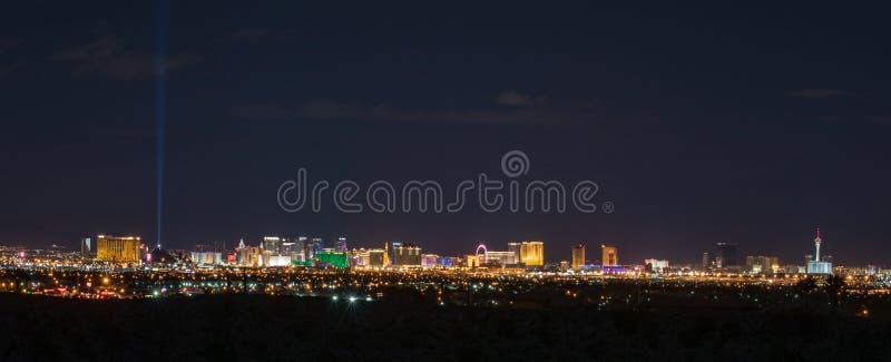 Panorama- Las Vegas horisont royaltyfri foto