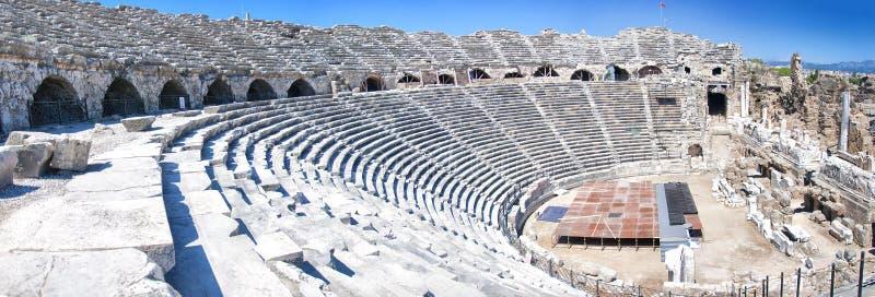 Panorama laterale del Amphitheatre fotografie stock