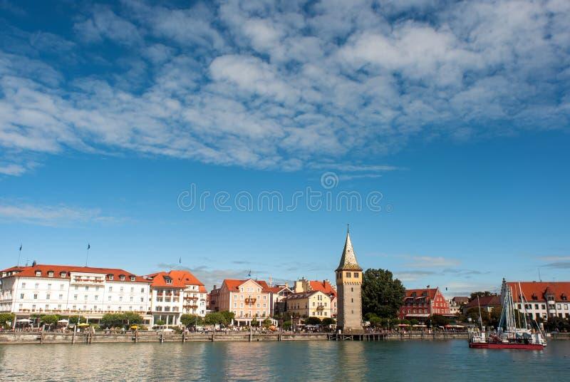 Panorama Lindau przy jeziorem Constance obraz royalty free