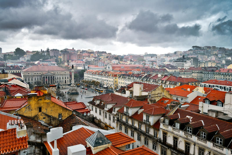 Download Panorama of Lisbon stock image. Image of people, portugal - 27617241