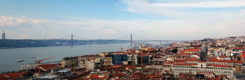 Panorama Lissabon stock foto