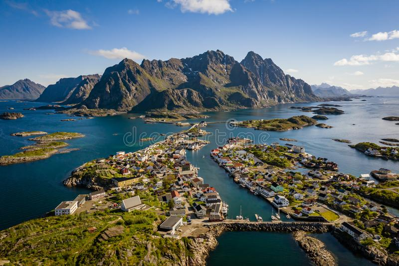 Lofoten is an archipelago in the county of Nordland, Norway. Panorama Lofoten is an archipelago in the county of Nordland, Norway. Is known for a distinctive stock photos