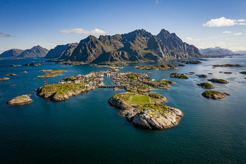 Lofoten is an archipelago in the county of Nordland, Norway. Panorama Lofoten is an archipelago in the county of Nordland, Norway. Is known for a distinctive stock image