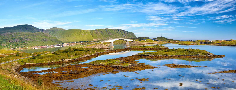 Panorama Lofoten fotografia royalty free