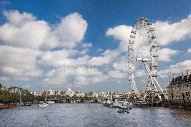 Panorama of London in England, UK royalty free stock photos