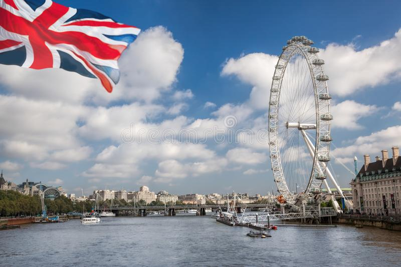 Panorama of London in England, UK stock photo