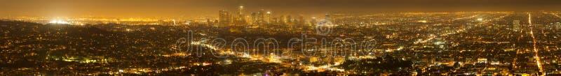 Panorama of Los Angeles Skyline stock photography