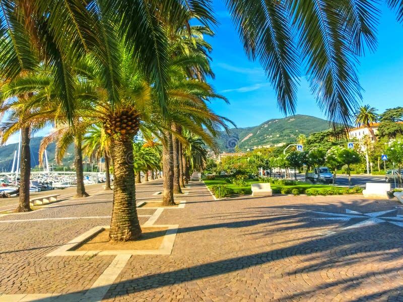 Panorama losu angeles Specia miasto, Włochy, Liguria obrazy royalty free