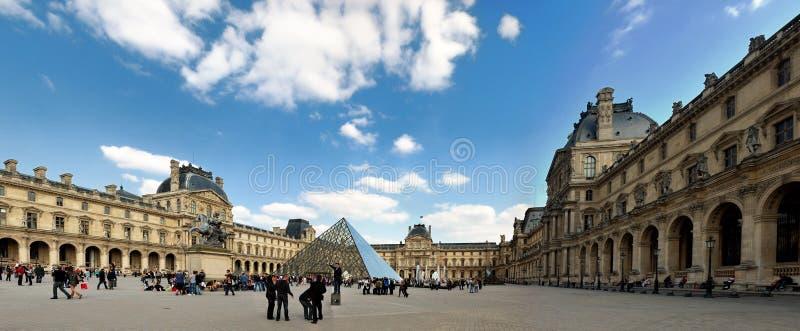 Panorama of the Louvre in Paris stock photos