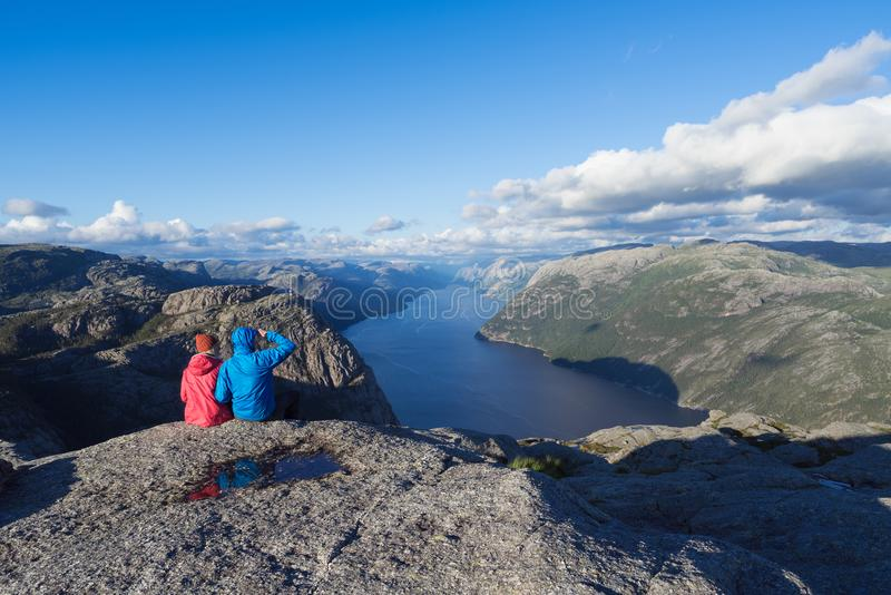 Panorama of Lysefjord, Norway royalty free stock photo