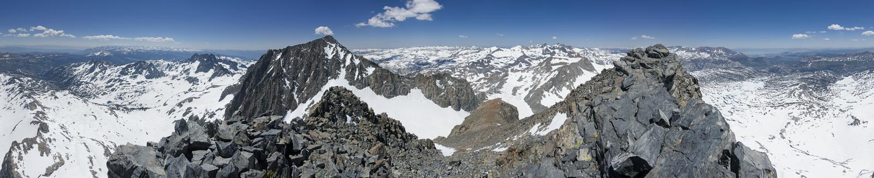 Panorama máximo da cimeira da bandeira imagem de stock royalty free