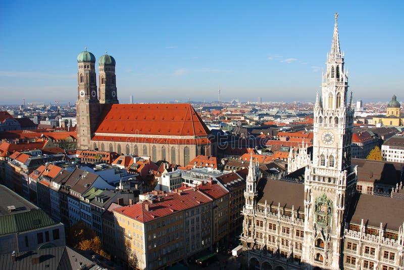 panorama München stock afbeelding