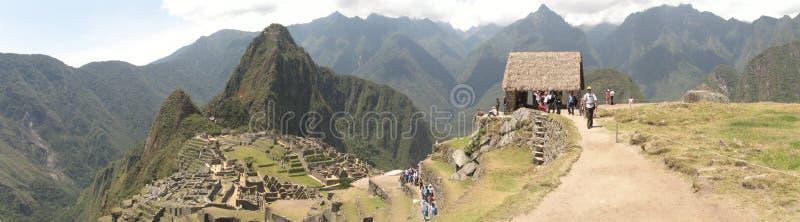 panorama- machupicchu royaltyfri bild
