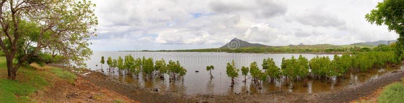 Panorama in Macondé, Mauritius royalty-vrije stock foto