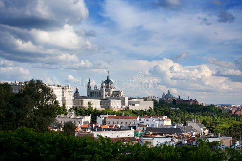 Download Panorama Of Madrid (Spain) With The Royal Palace Stock Photo - Image: 21980468