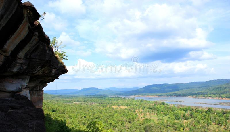 Panorama of Maekhong river stock photos