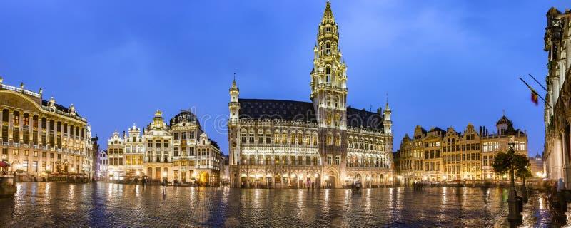 Panorama magnífico del lugar de Bruselas imágenes de archivo libres de regalías
